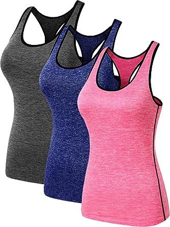 b22c9cfd06b2ed Neleus Women s 3 Pack Dry Fit Athletic Shirts