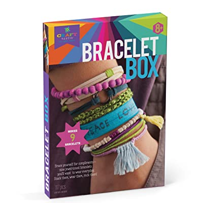 Craft-tastic – Bracelet Box – Jewelry Making Craft Kit Includes 9 DIY Bracelets – Jewel Tones Edition: Toys & Games