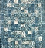 TooMeeCrafts 45 x 200 cm, da cucina, in alluminio rivestito in PVC, mosaico adhensive Stickers-Adesivi da parete, motivo: carta da parati, Specchio adesivo da parete per bagno, impermeabile, PVC, Blue
