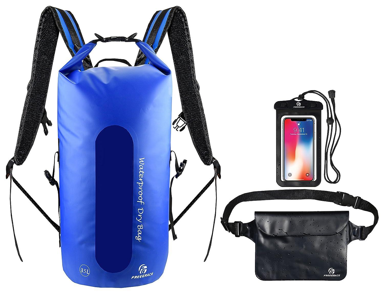 激安大特価! Freegrace 防水ドライバッグ3個セット ‐ ‐ B06XCMWQ71 ドライバッグ 二重ジップロック留め取り外し可能ショルダーストラップ、ウエストポーチ&携帯電話ケース ‐ Backpack) 水泳、カヤック、ラフティング船遊びで水に浸かっても安心 B06XCMWQ71 Navy Blue(Window, Backpack) 35L 35L|Navy Blue(Window, Backpack), 志摩市:ece070b2 --- svecha37.ru