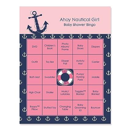 Amazon Com Big Dot Of Happiness Ahoy Nautical Girl Baby Shower