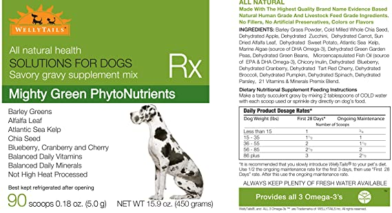 Amazon.com: wellytails Mighty Verde fitonutrientes Plus ...