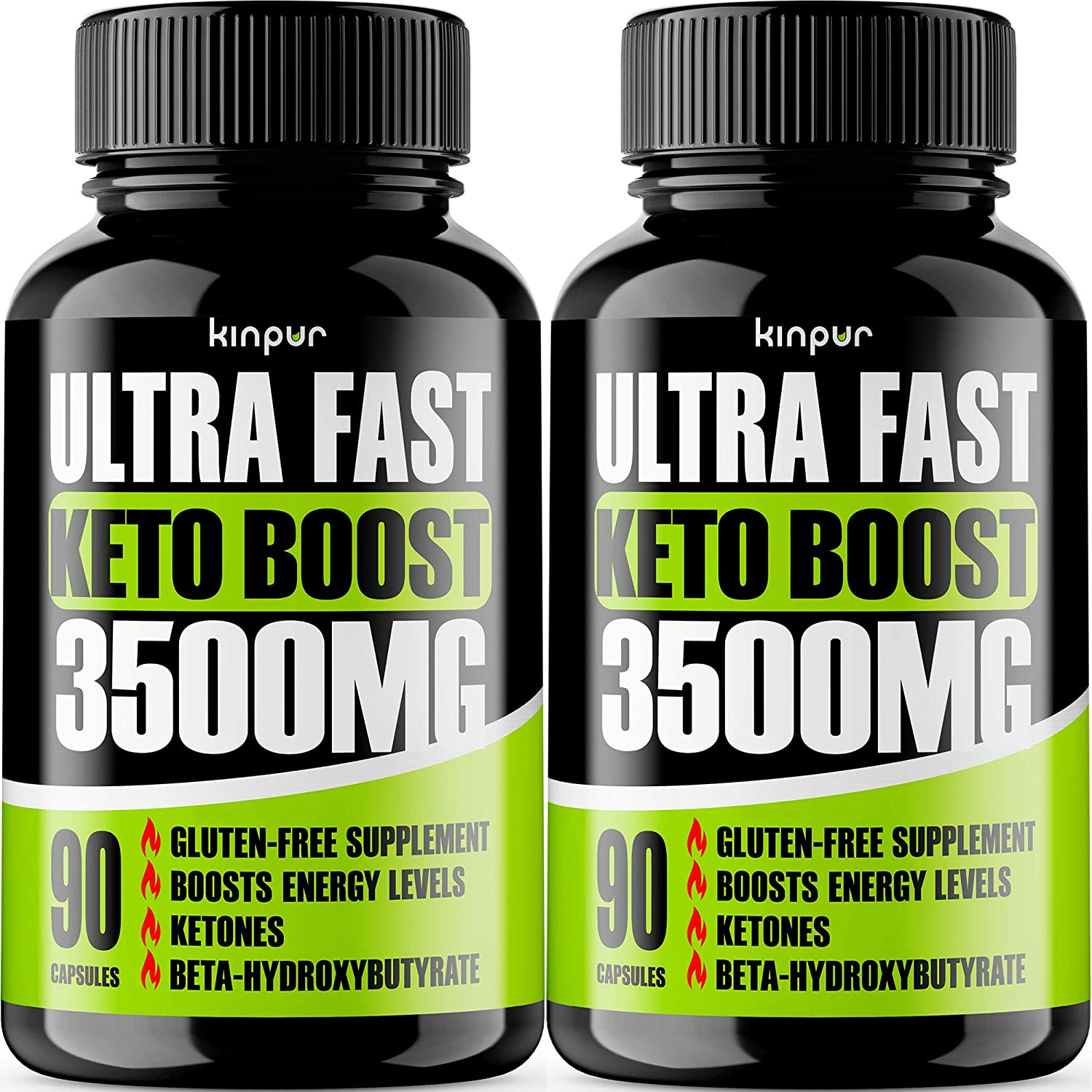 Premium Keto Pills 2-Pack - Effective Keto Fast Diet Pills for Improved Focus, Stamina and Energy - Perfect for Women Belly Fat & Fit Body - 180 Keto Diet Pills