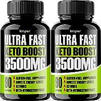 Premium Keto Pills 2-Pack - Effective Keto Fast Diet Pills for Improved Focus, Stamina...