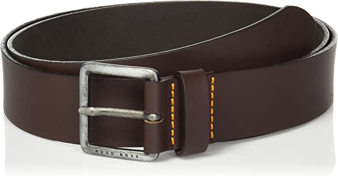Hugo Boss Mens Jeeko Italian Leather Belt