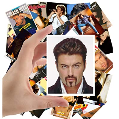 "Large Stickers (24pcs 2.5""x3.5\"") GEORGE MICHAEL Posters Photos Vintage Magazine covers Rock Music: Toys & Games [5Bkhe0702851]"