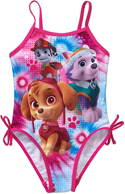 Paw Patrol 2T 4T One Piece Swimsuit Toddler Girl Pink