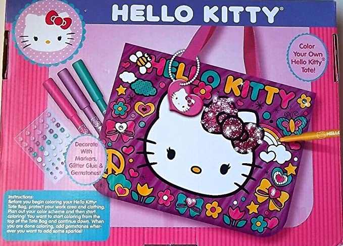 Amazon.com  Doodle Tote Hello Kitty Decorate with Markers   Sparkling  Gemstones  Toys   Games 537a6a249d6cb