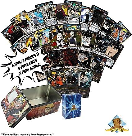 Amazon.com: 120 tarjetas coleccionables de Naruto con rayas ...