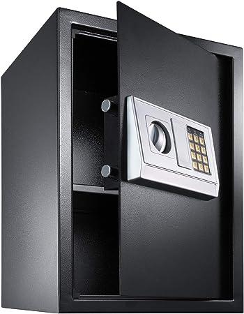 TecTake Caja Fuerte electrónica Pared Safe Caja de Seguridad Mini Hotel Seguro + Llave (50x35x34.5cm   No. 400566): Amazon.es: Hogar