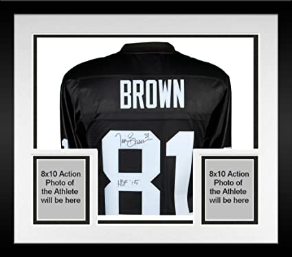 Hot Framed Tim Brown Oakland Raiders Autographed Black Mitchell & Ness  for cheap