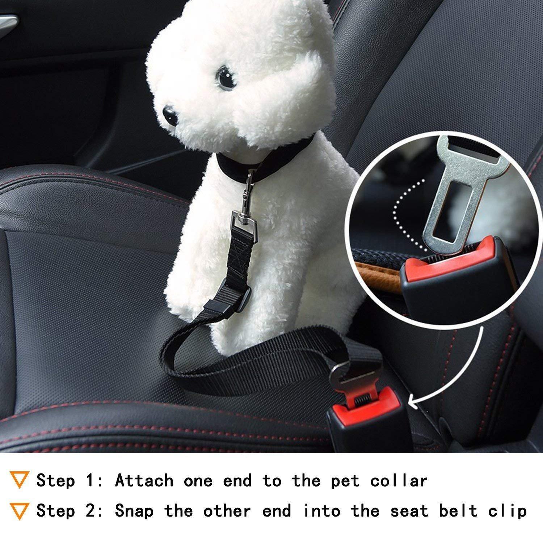 Pet Supplies 2 Pack Dog Seat Belt Adjustable Dog Cat Car Safety Seat Belt for for All Cars