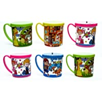 Kids Fashion Perpetual Bliss Fancy Printed Milk Mugs with LID - Pack of 12