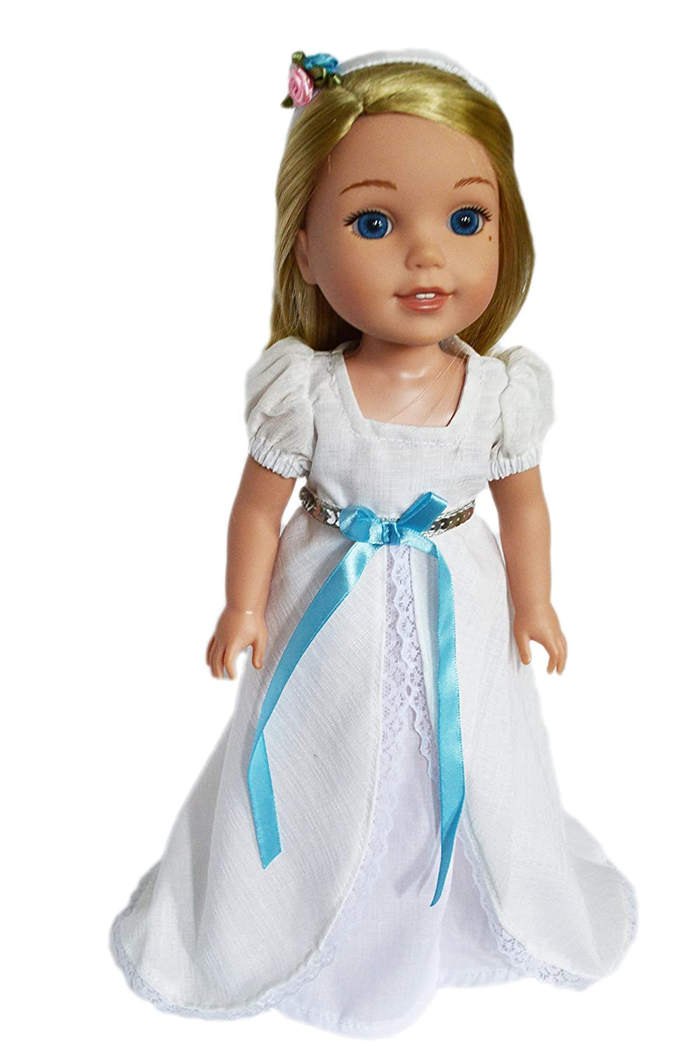 Brittanys My White Victorian Gown with Headband Compatible with Wellie Wisher Dolls Brittany/'s