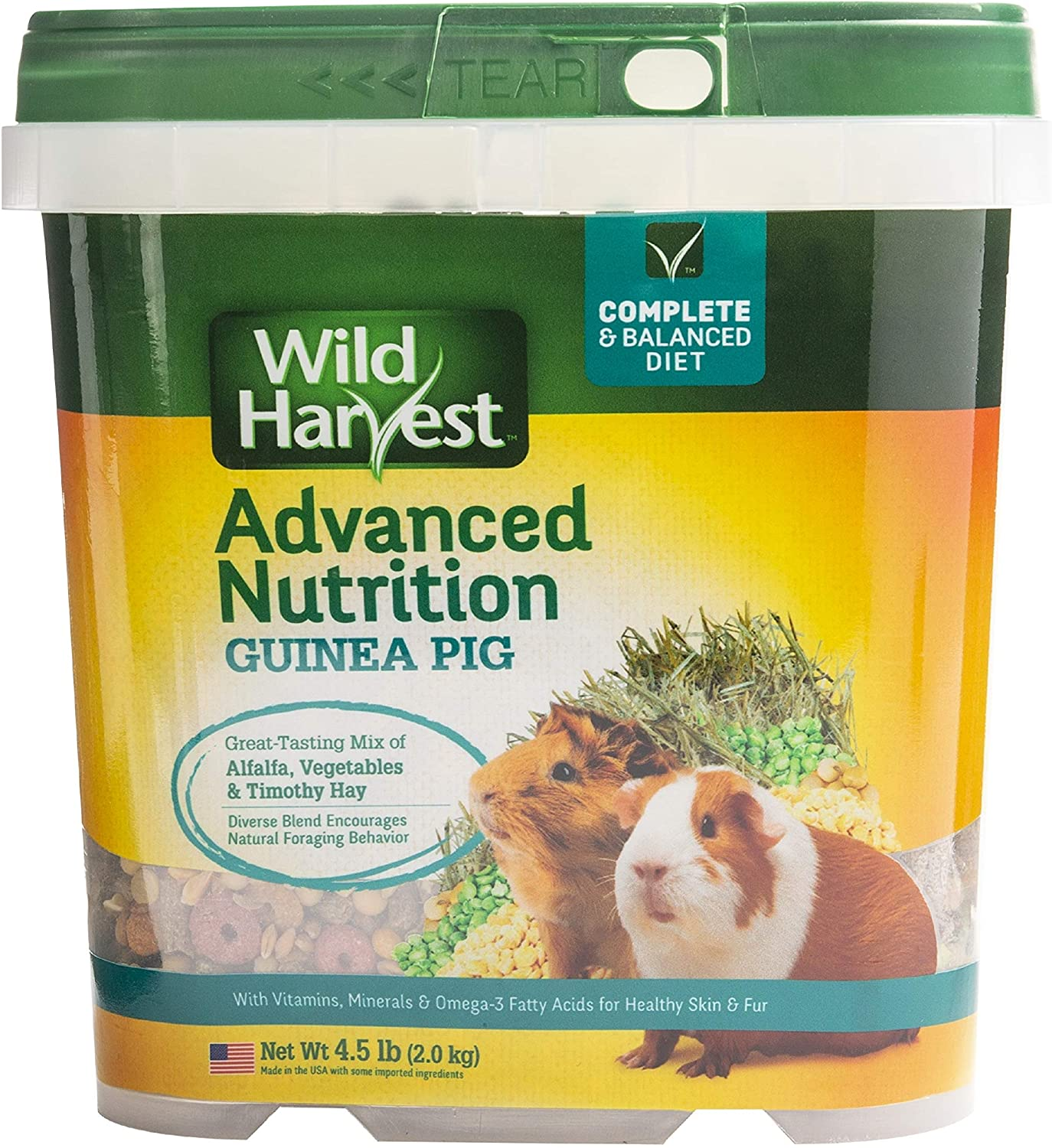 B00N4V2FQ4 Wild Harvest Wh-83545 Wild Harvest Advanced Nutrition Diet For Guinea Pigs, 4.5-Pound 81hwYBaHO3L