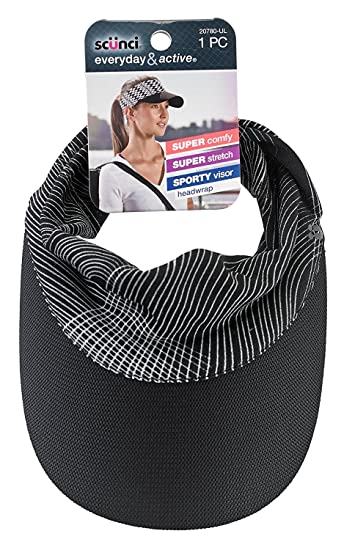 8532d713d9a9d Amazon.com  Scunci Everyday   Active Visor Head Wrap