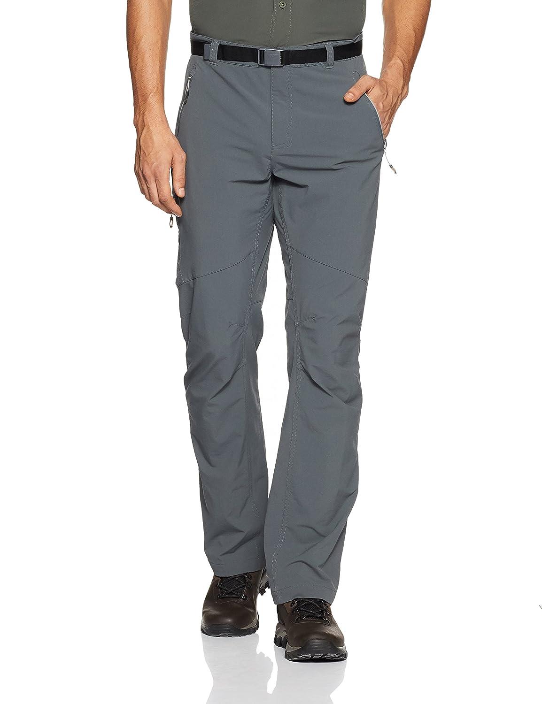 Columbia Titan Peak Pantalones, Hombre, Gris, 30/32