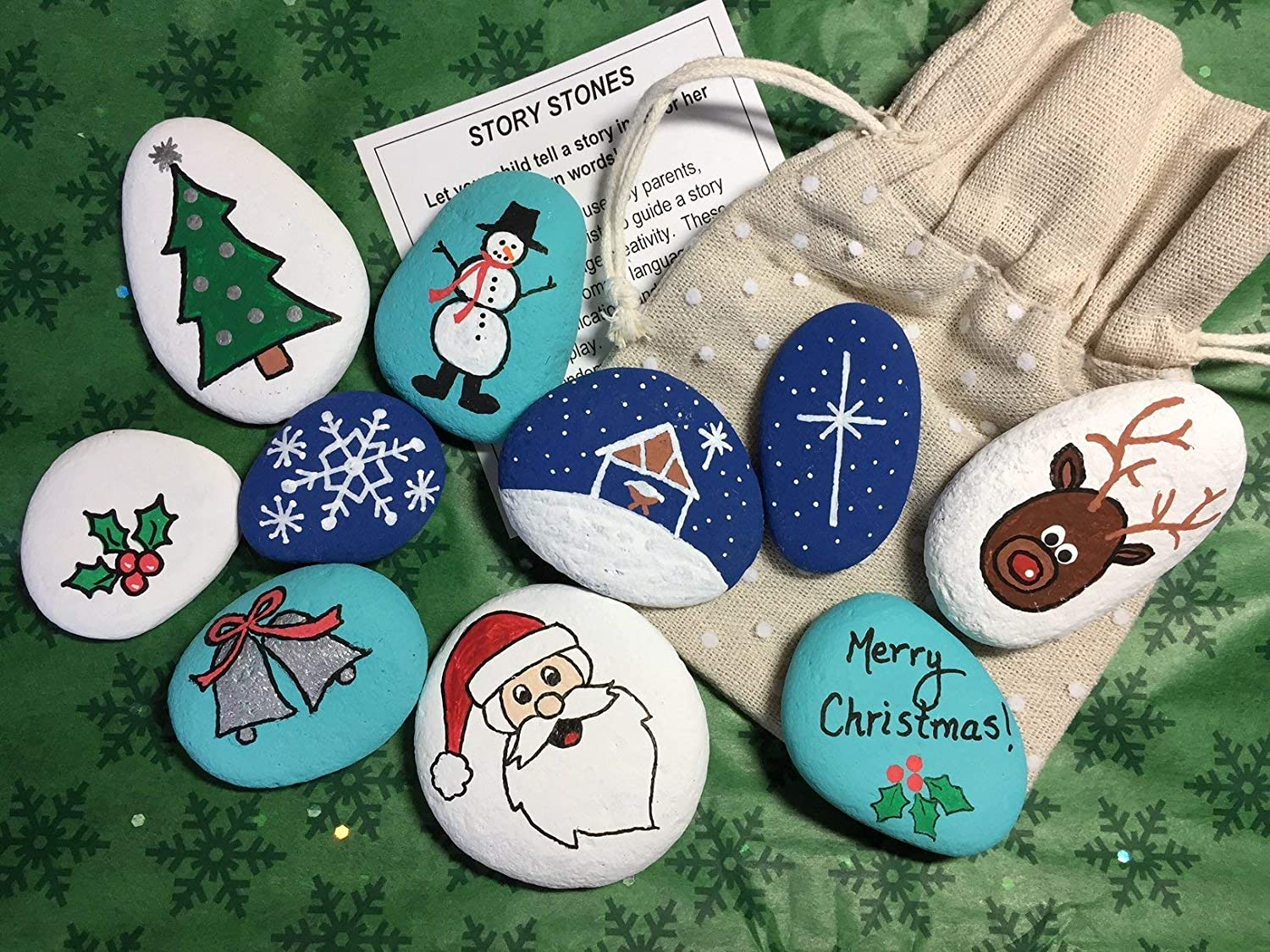 Christmas Song Story Stones