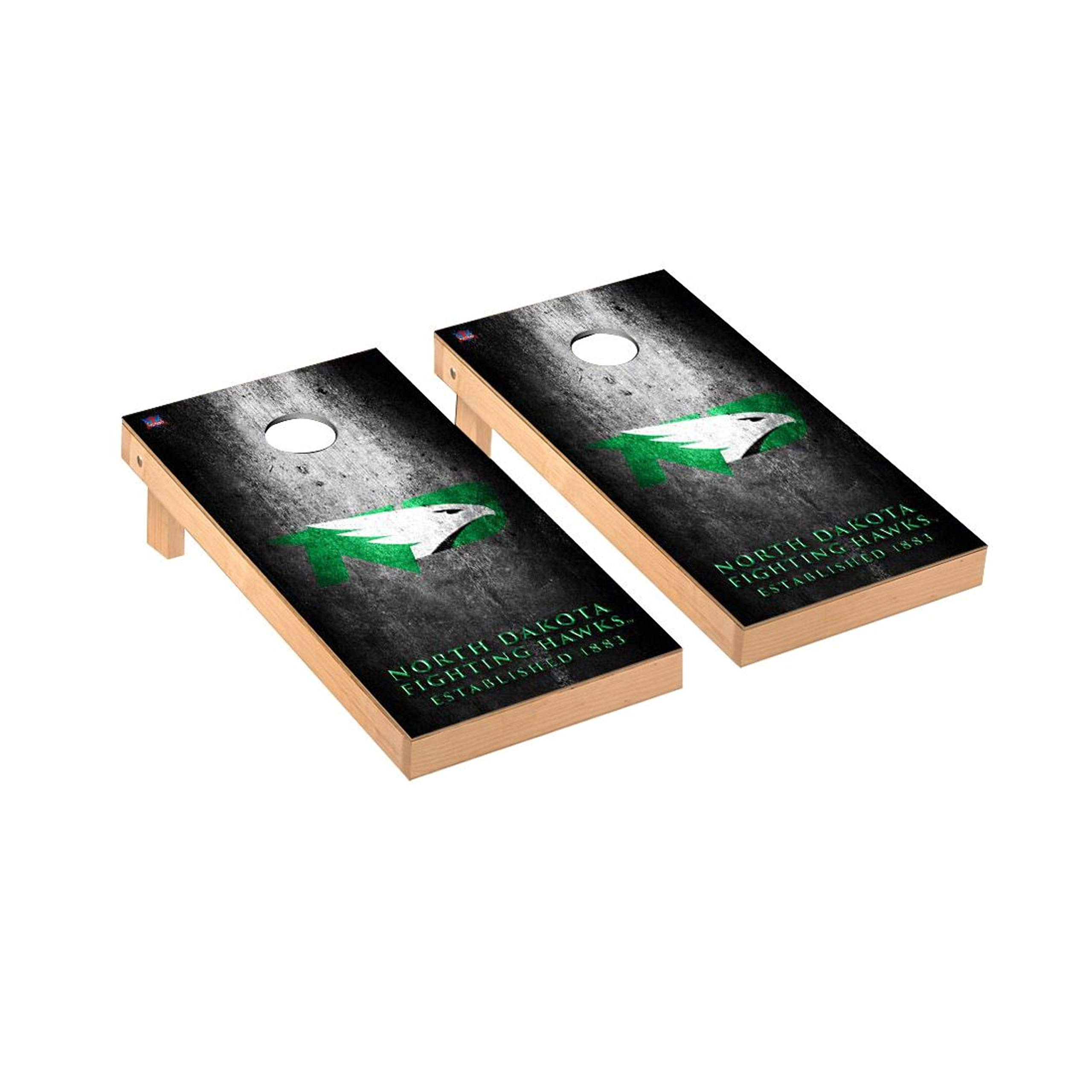 Victory Tailgate Regulation Collegiate NCAA Museum Series Cornhole Board Set - 2 Boards, 8 Bags - North Dakota UND Fighting Hawks by Victory Tailgate
