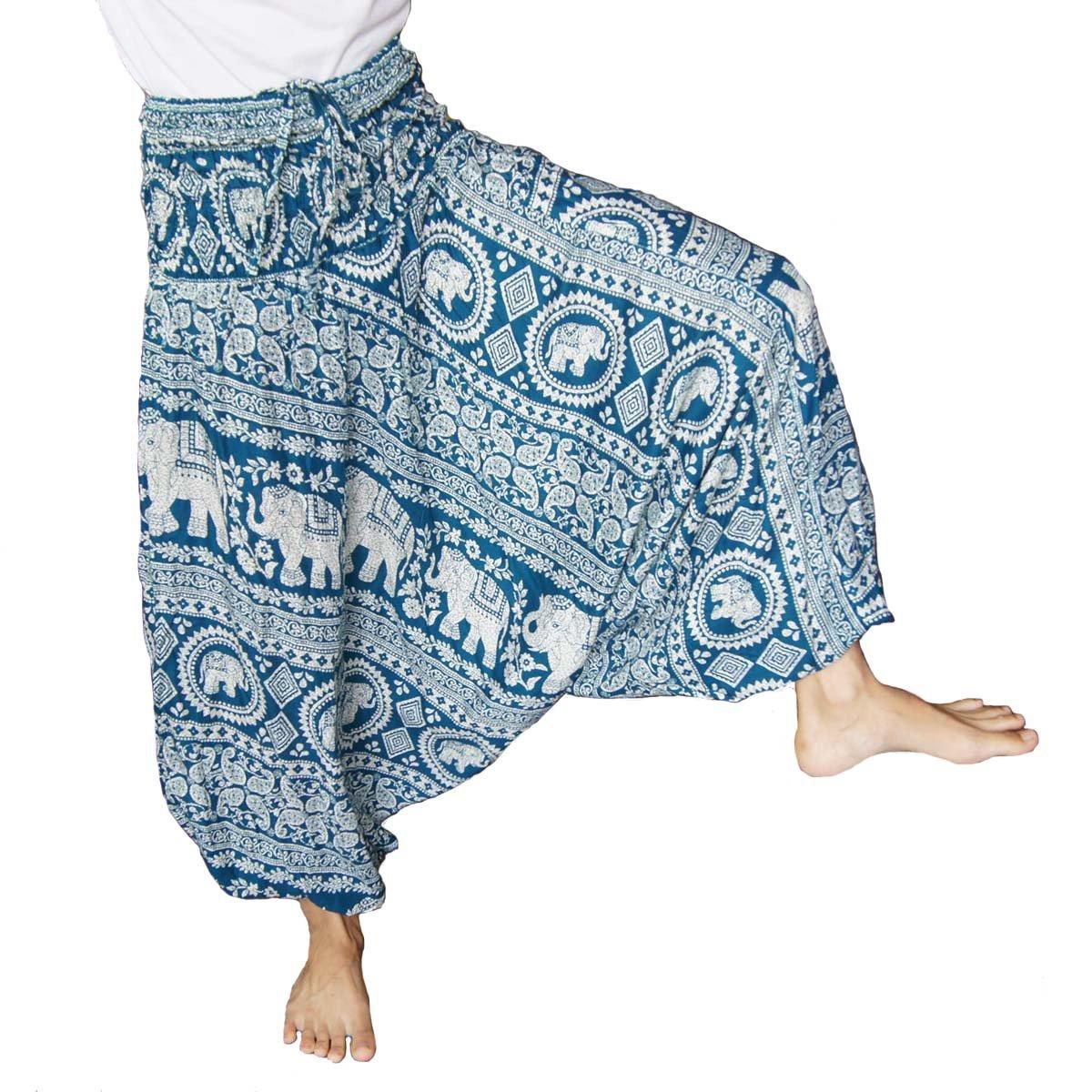 09930e8d4d Harem Genie Yoga Pants Aladdin Hippie Baggy Jumpsuit