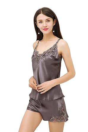 Enjoysilk 100% Cocoon Silk Women s Luxury Pajama Set - Beautiful Sleepwear  Gift Ideas (US e350e0c02