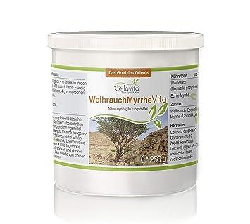CELLAVITA Weihrauch-Myrrhe Vita 2-Monatsvorrat 250g   Weihrauch (Boswellia  papyrifera) & echte Myrrhe (Commiphora Myrrha)