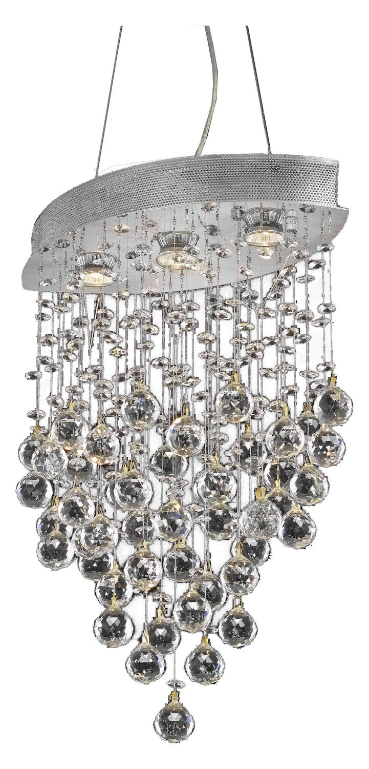 Galaxy Collection 3-Light Chrome Fix With Clear Swarovski Strass Crystal