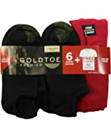 Gold Toe Premier 6-Pair Cotton Liner Socks + Bonus T-Shirt