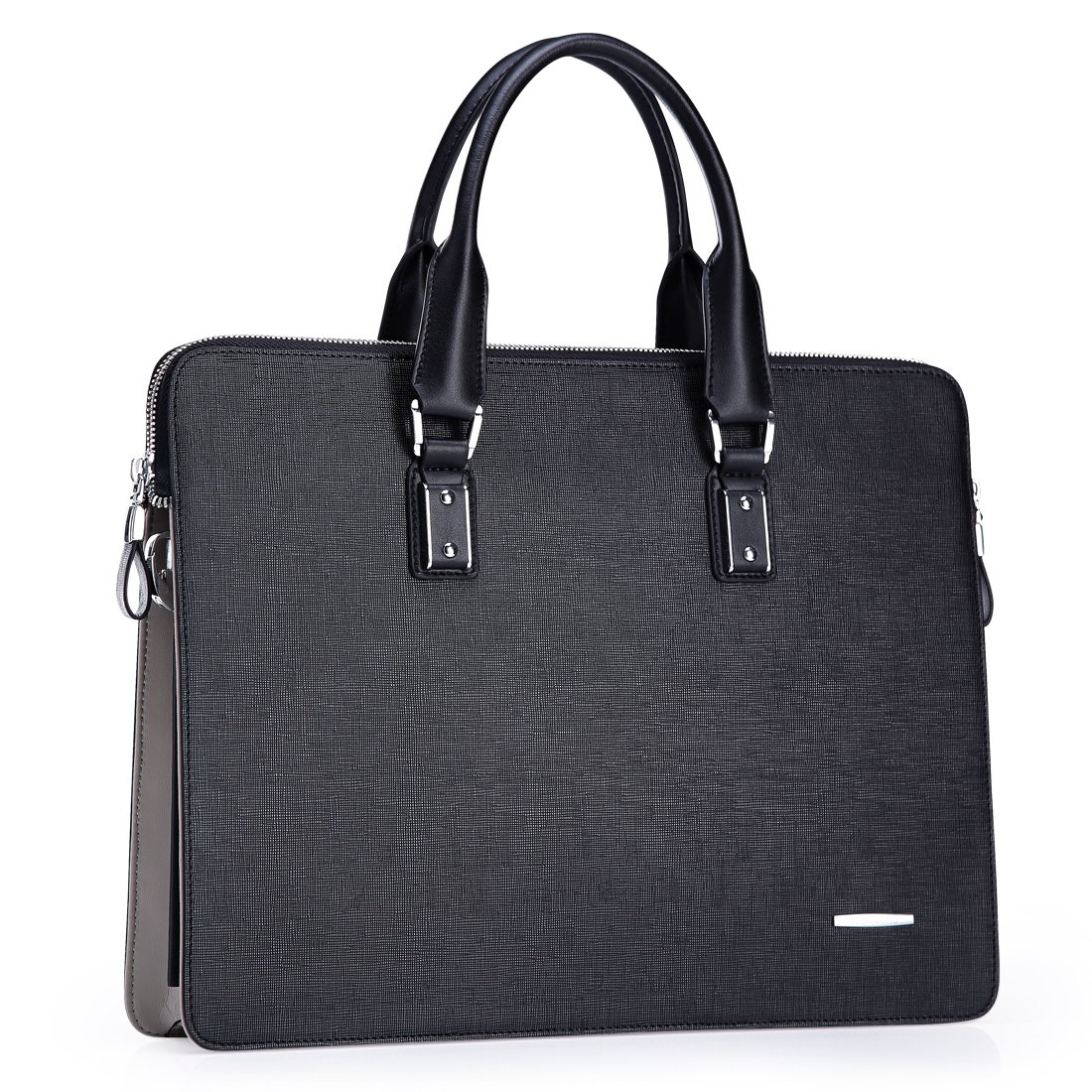 Teemzone Men Leather Briefcase Laptop Messenger Bag Handbag Shoulder Bag (15' laptop bag) T0793