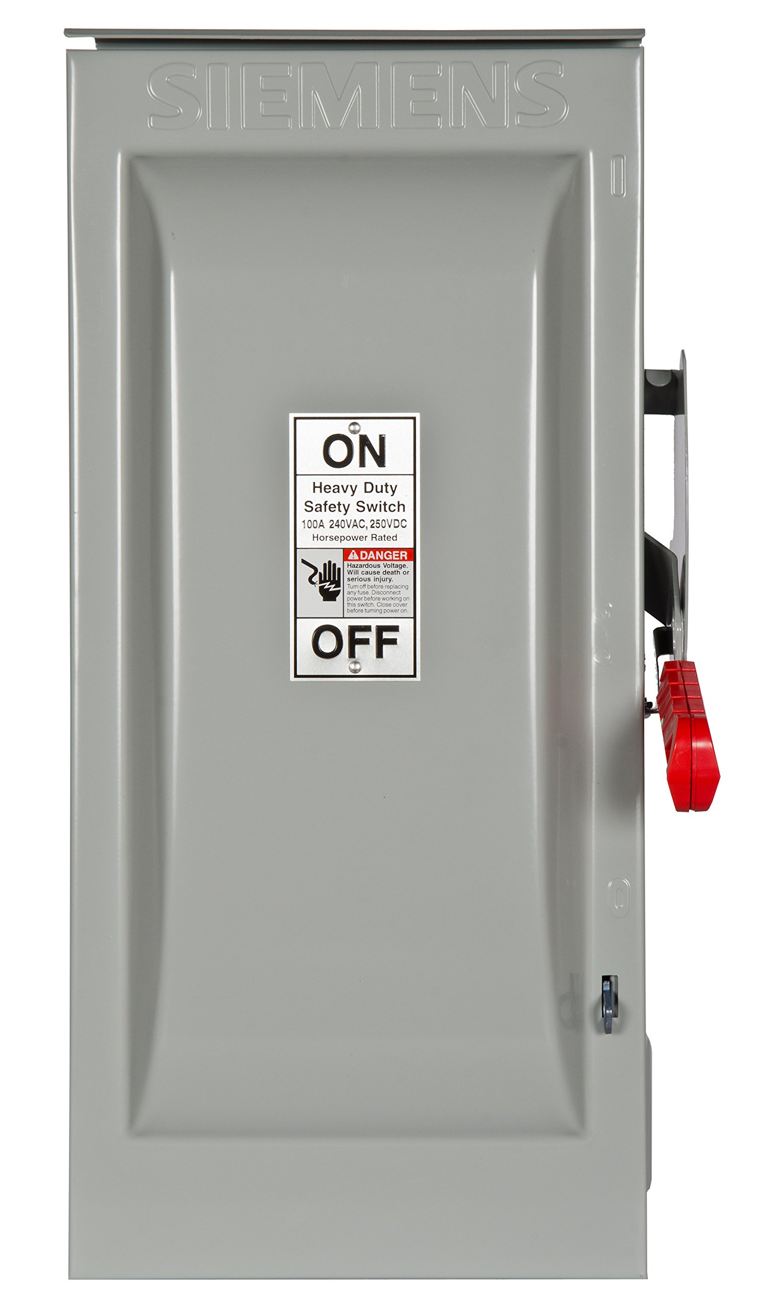 Siemens HF323NR 100-Amp 3 Pole 240-volt 4 Wire Fused Heavy Duty Safety Switches