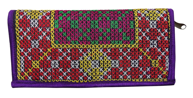 Amazon.com: Las mujeres indias bordados a mano cartera Party ...
