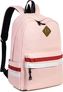 Leaper Classic Laptop Backpack Travel Bag School Backpack Satchel Daypack Pink