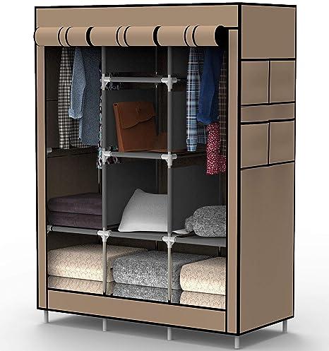 Home & Garden Dependable 6 Cube With Shelves Portable Canvas Storage Clothes Closet Wardrobe Organizer