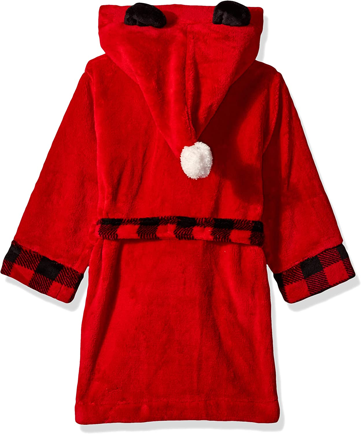 Petit Lem Kids Little Holiday Unisex Hooded Robe Cute and Cozy Softness Comfy