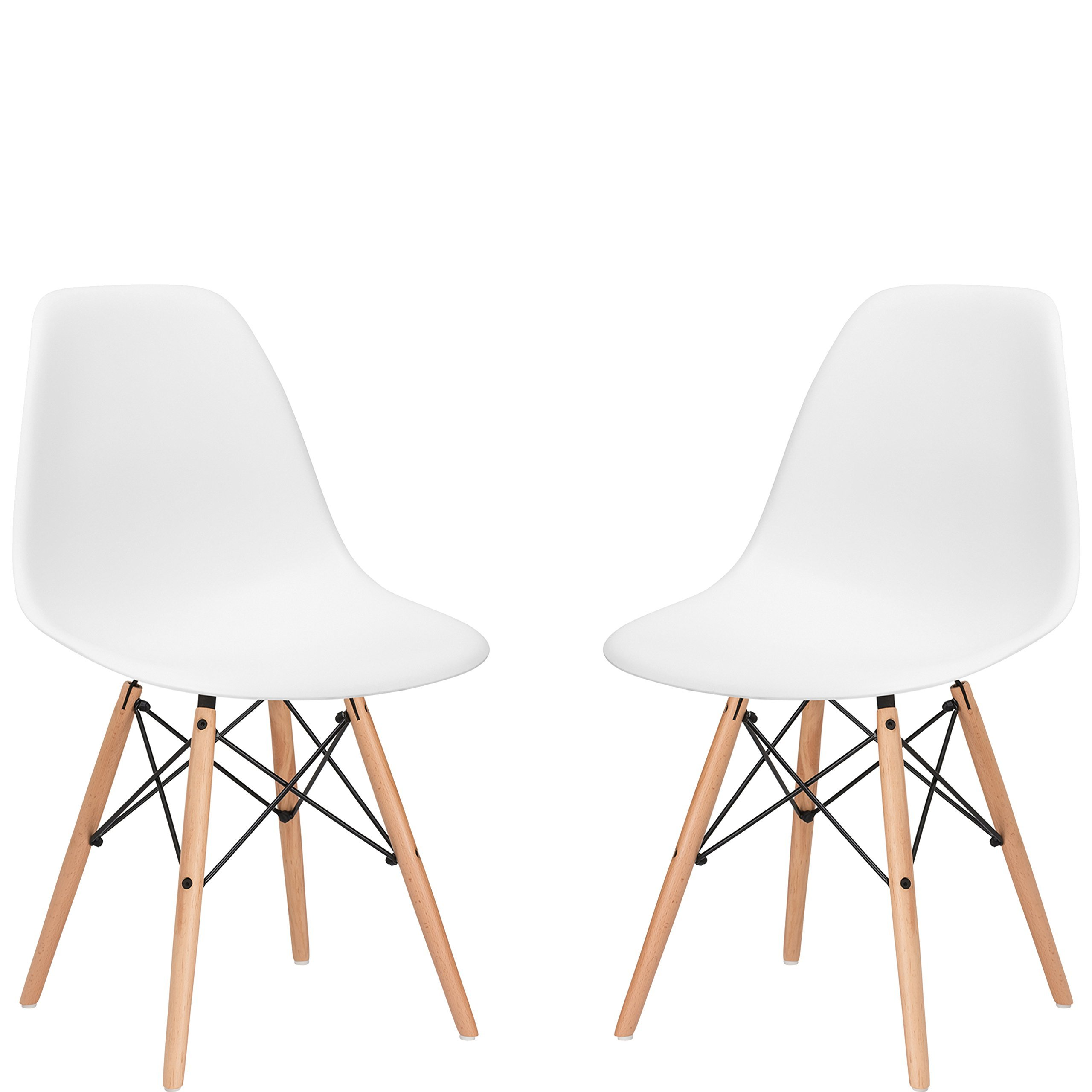 Poly and Bark Vortex Side Chair, White, Set of 2 by Poly and Bark (Image #7)