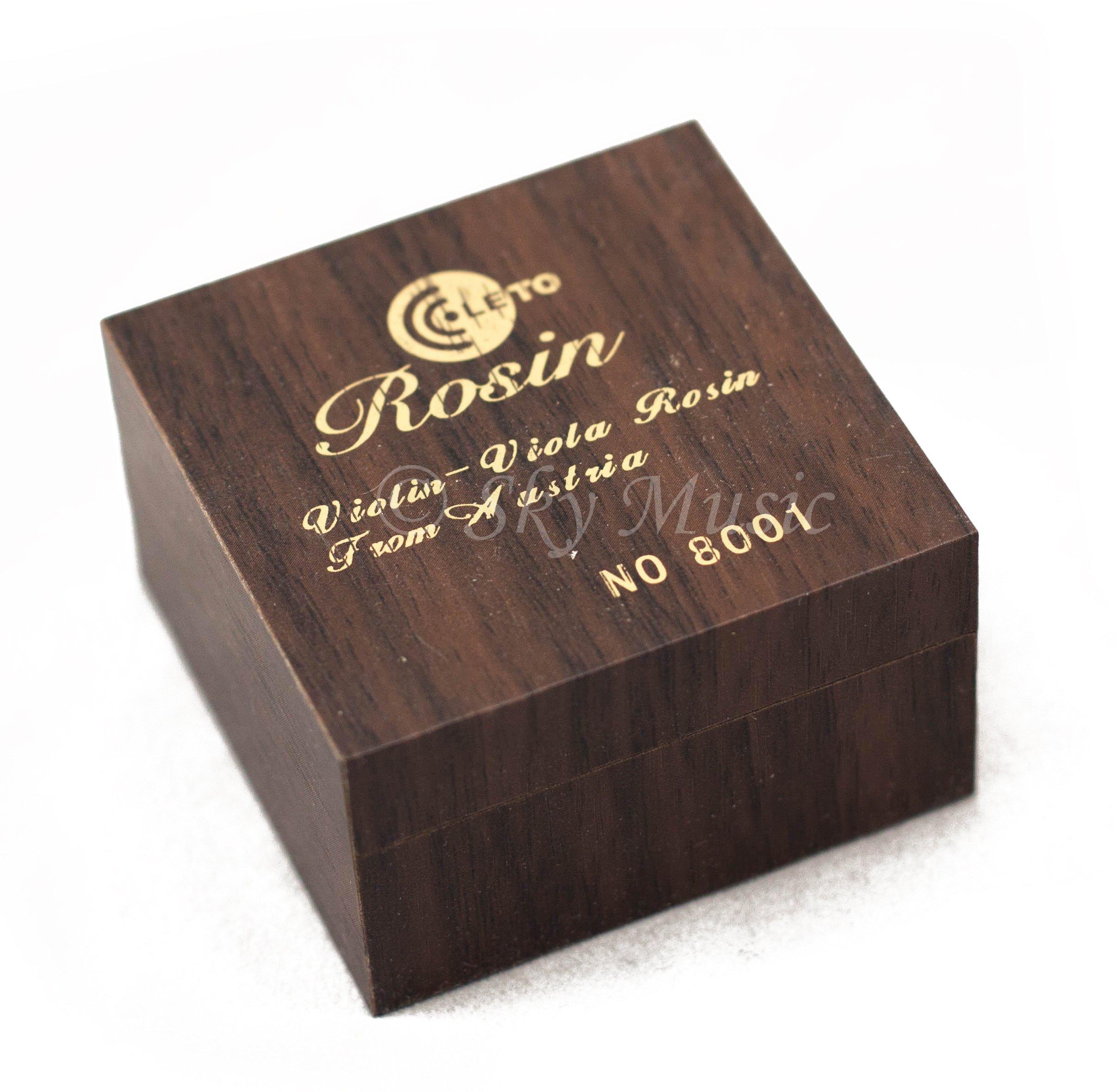 Leto Quality Rosin #8001, Containing Gold Powder, Wooden Box, for Violin,viola,cello
