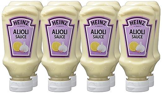 Heinz - Salsa Alioli, 220 ml - [Pack de 8]: Amazon.es: Alimentación y bebidas