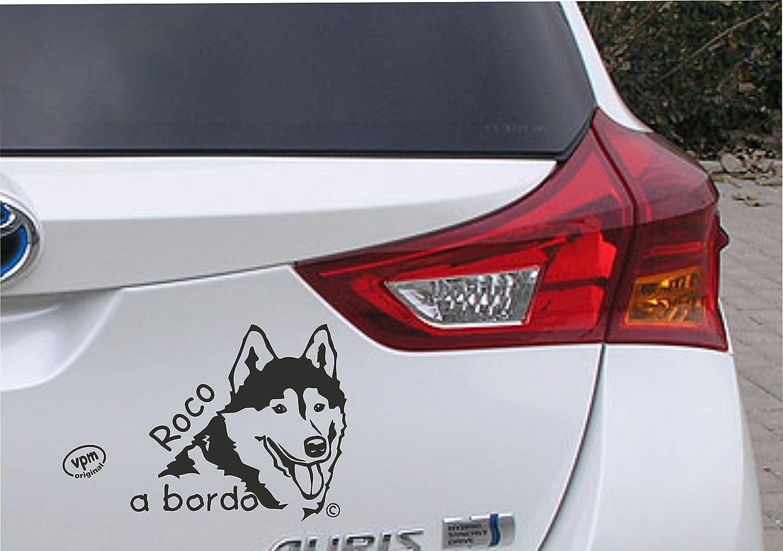 Pegatina Mascota a bordo Husky.