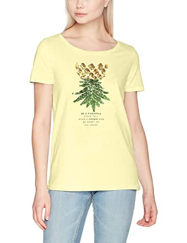 Only Onlkita S/S Sequins Pineapple Box ESS, Camiseta para Mujer