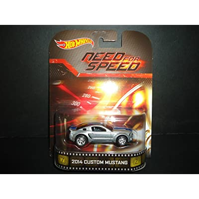 "2014 Custom Mustang ""Need For Speed"" Hot Wheels 2014 Retro Series Die Cast Vehicle: Toys & Games"