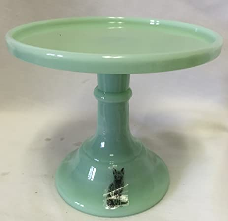 Cake Plate Round Plain u0026 Simple Mosser Glass 6u0026quot; Jade Jadeite Jadite Green Glass & Amazon.com | Cake Plate Round Plain u0026 Simple Mosser Glass 6