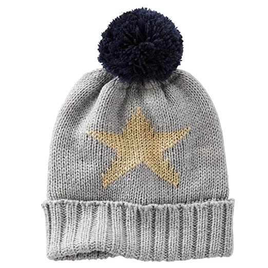 3ac5e434f80 Image Unavailable. Image not available for. Color  Oshkosh B gosh Little  Girls   Knit Sparkle Gold Star Hat ...
