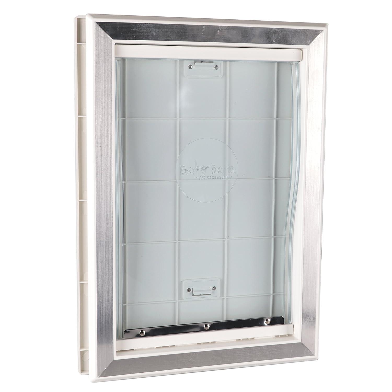 medium petsafe pets lbs guardian pet plastic for to door com ip walmart doors by white
