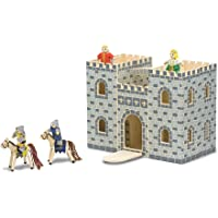 Melissa & Doug Fold and Go Wooden Castle Dollhouse with Wooden Dolls and Horses (12 pcs)^Melissa & Doug Fold and Go…