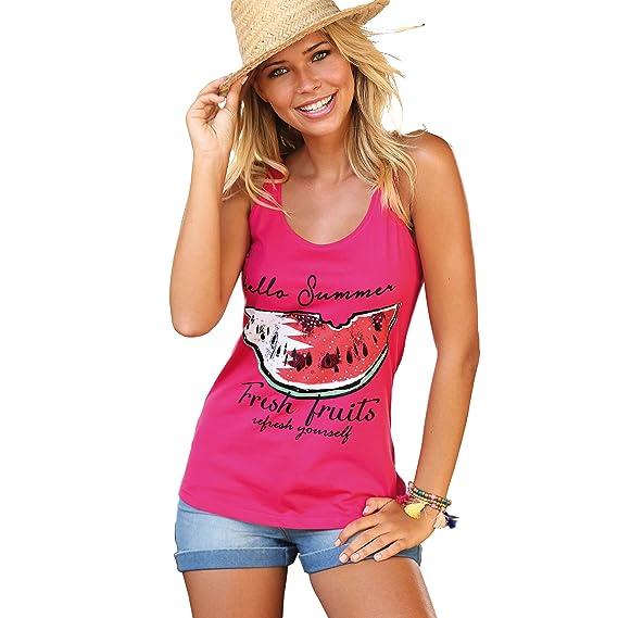 VENCA Camiseta de Tirantes by Vencastyle,Rosa Fucsia,S