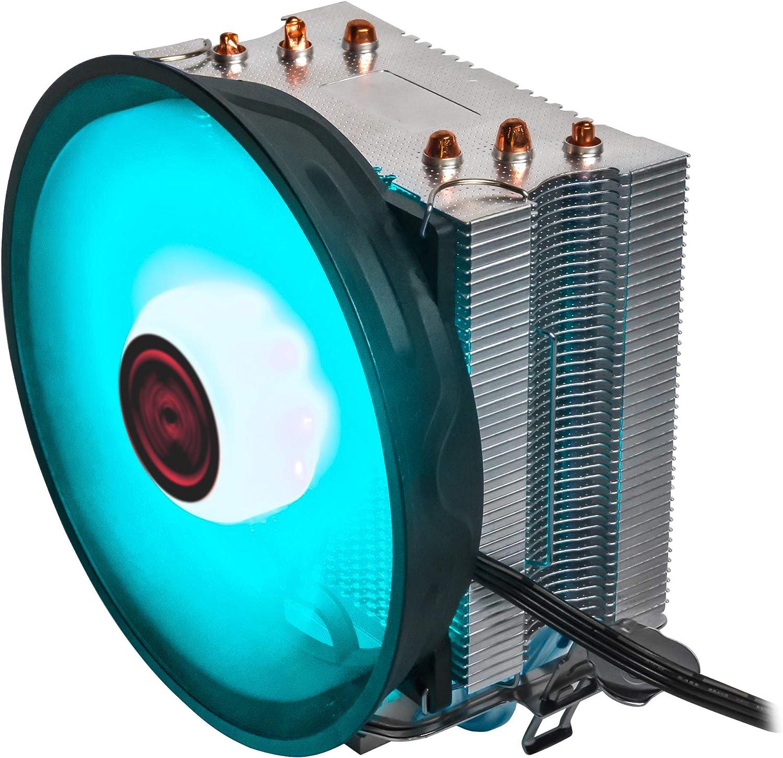 Mars Gaming MCPURGB - Disipador de CPU (RGB, 12 cm, Heat Core ...