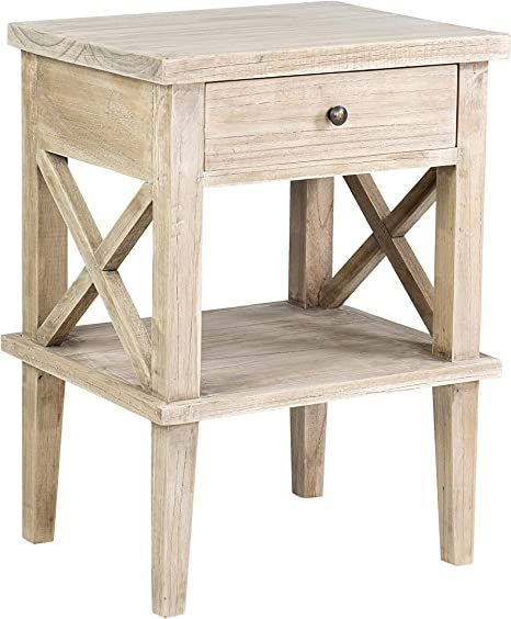 East At Main Bevan Nightstand Tan Furniture Decor