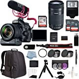 Canon EOS Rebel 80D DSLR Camera Video Creator Kit & 55-250 IS STM Lens + Professional Accessory Bundle - Including EVERYTHING You Need To Get Started