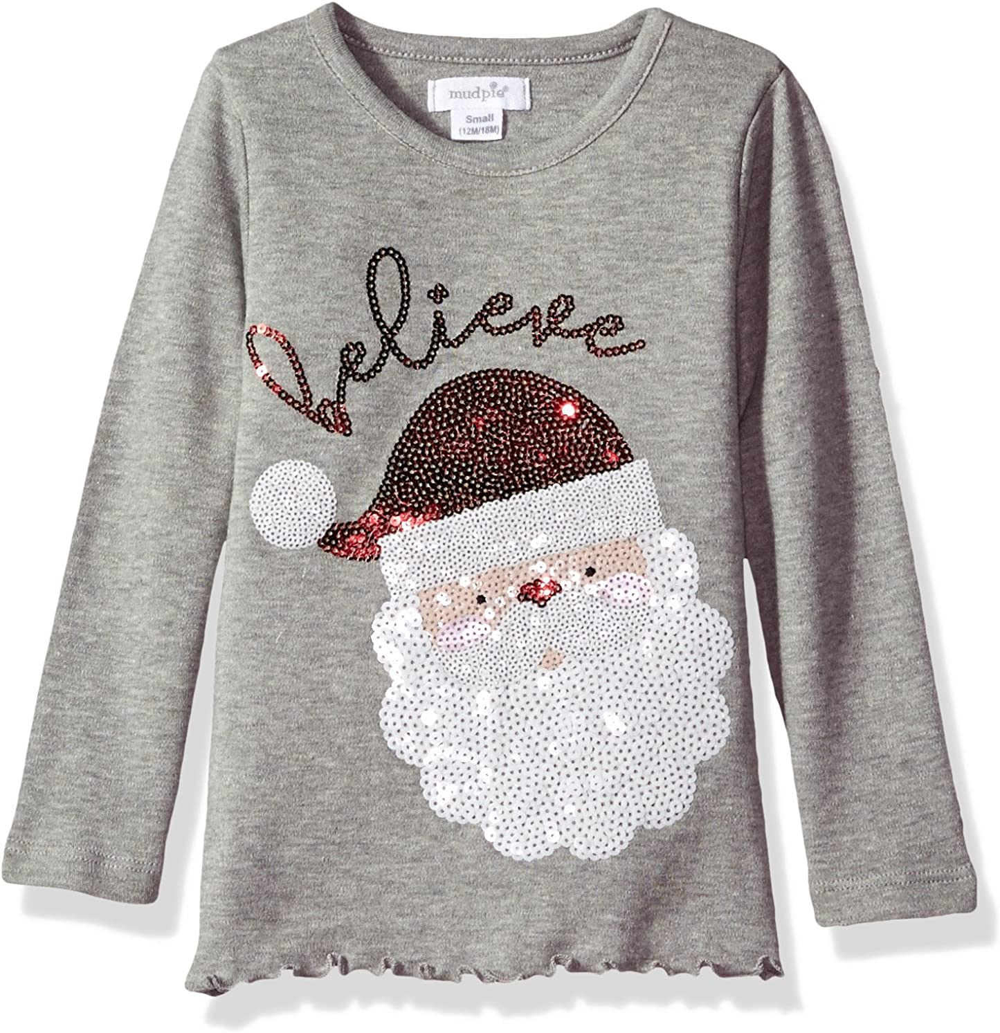 Mud Pie Baby Girls Toddler Holiday Christmas Long Sleeve Tunic