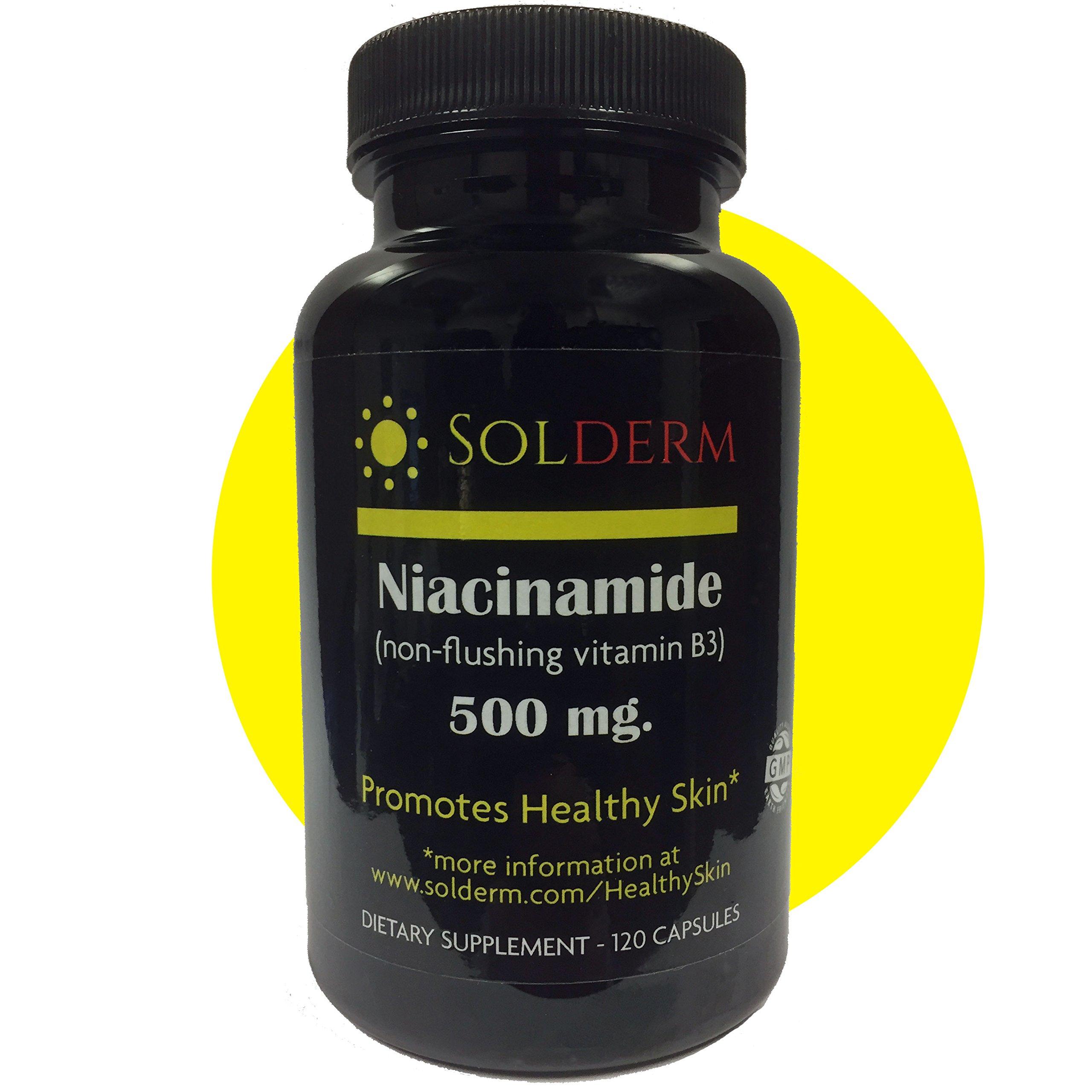Solderm Niacinamide 500mg non-flushing vitamin B3 by Solderm
